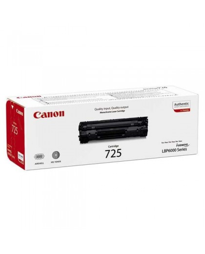 Canon originál toner CRG725, black, 1600str., 3484B002, Canon LBP-6000, 6020, 6020b, MF 3010