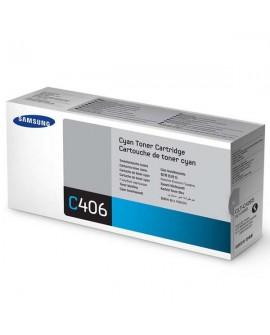 Samsung originál toner CLT-C406S, cyan, 1000str., Samsung CLP-360, 365, CLX-3300, 3305