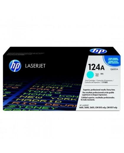 HP originál toner Q6001A, cyan, 2000str., HP 124A, HP Color LaserJet 1600, 2600n, 2605