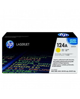 HP originál toner Q6002A, yellow, 2000str., HP 124A, HP Color LaserJet 1600, 2600n, 2605