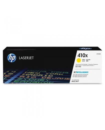 HP originál toner CF412X, yellow, 5000str., HP 410X, high capacity, HP LJ Pro M452, LJ Pro MFP M477, 650g