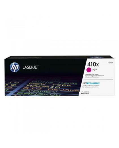 HP originál toner CF413X, magenta, 5000str., HP 410X, high capacity, HP LJ Pro M452, LJ Pro MFP M477, 650g