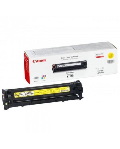Canon originál toner CRG716, yellow, 1500str., 1977B002, Canon LBP-5050, 5050n, MF-8050