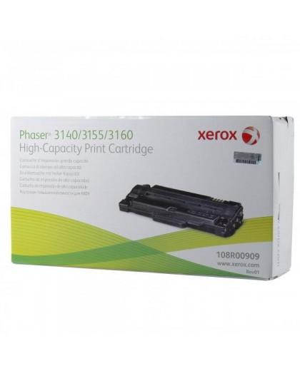 Xerox originál toner 108R00909, black, 2500str., Xerox Phaser 3140, 3155, 3160