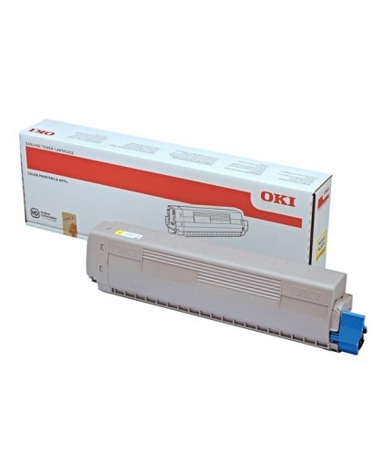 OKI originál toner 45862837, yellow, 7300str., OKI MC853, MC873