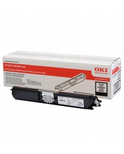 OKI originál toner 44250724, black, 2500str., OKI C110, 130n, MC160