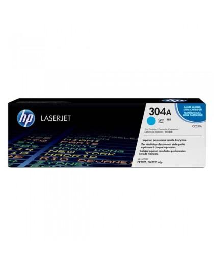 HP originál toner CC531A, cyan, 2800str., HP 304A, HP Color LaserJet CP2025, CM2320