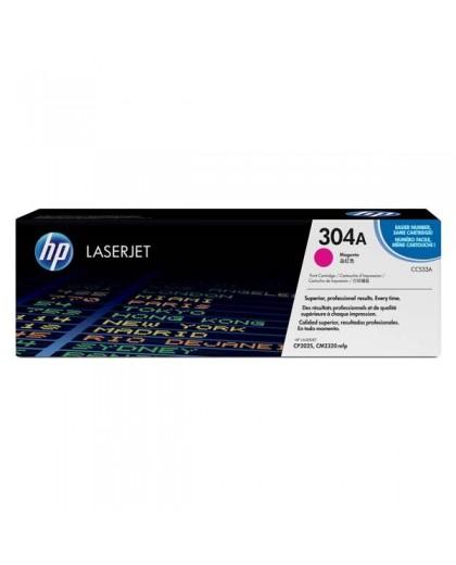 HP originál toner CC533A, magenta, 2800str., HP 304A, HP Color LaserJet CP2025, CM2320