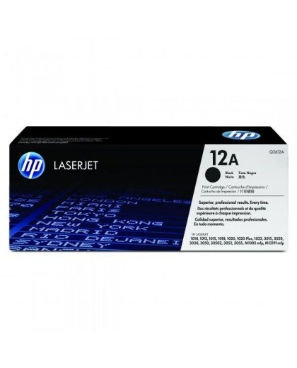HP originál toner Q2612A, black, 2000str., HP 12A, HP LaserJet 1010, 1012, 1015, 1020, 1022, 3015, 3020