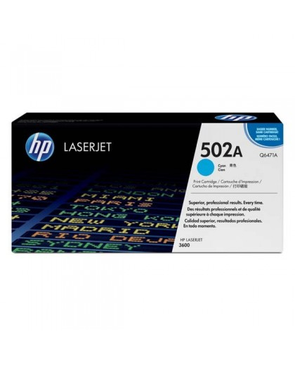 HP originálna tonerová náplň Q6471A, cyan, 4000str., HP 502A