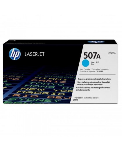 HP originál toner CE401A, cyan, 6000str., HP 507A, HP LaserJet Enterprise 500 color M551