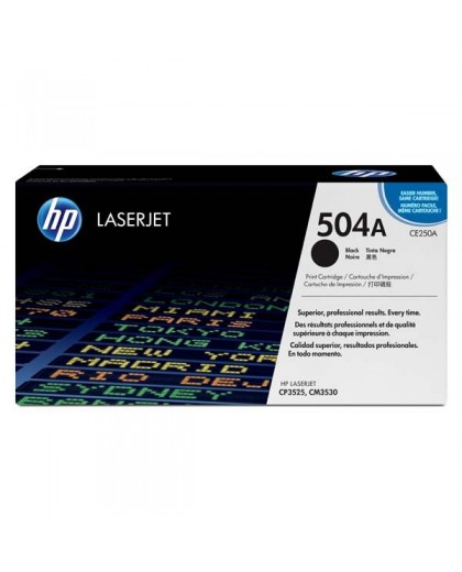 HP originál toner CE250A, black, 5000str., HP 504A, HP Color LJ CM3530, CP3525