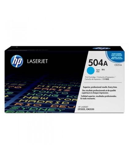 HP originál toner CE251A, cyan, 7000str., HP 504A, HP Color LaserJet CP3525