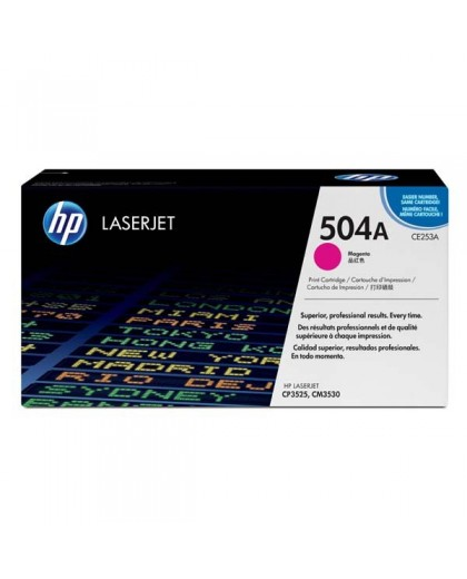 HP originál toner CE253A, magenta, 7000str., HP 504A, HP Color LaserJet CP3525