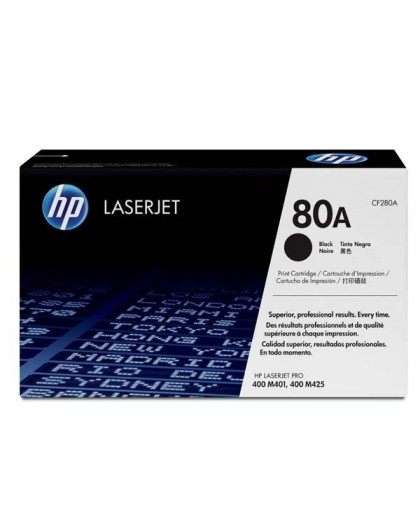 HP originál toner CF280A, black, 2700str., HP 80A, HP HP LJ Pro 400 M425, LJ Pro 400 M401, 850g