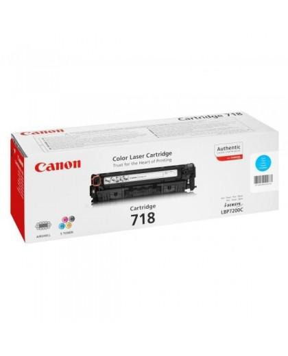 Canon originál toner CRG718, cyan, 2900str., 2661B002, Canon LBP-7200Cdn